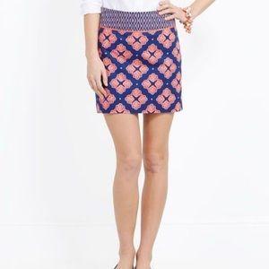 Vineyard Vines Navy and Coral Shell Print Skirt-2
